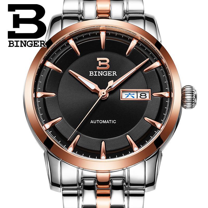 Šveicarija laikrodžiai vyrų prabangos prekinis ženklas BINGER - Vyriški laikrodžiai - Nuotrauka 5