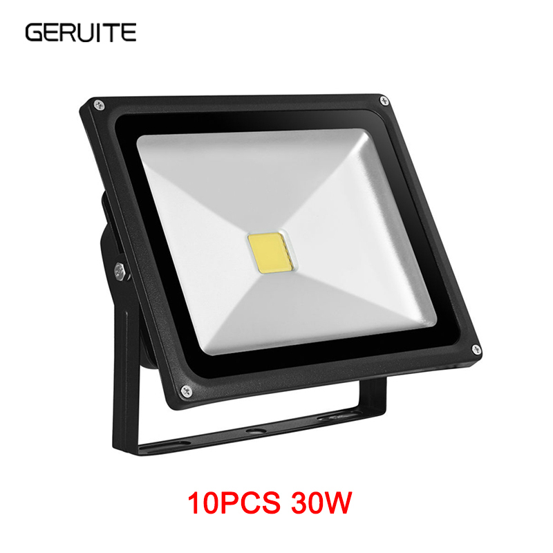 10pcs Lampa de inundare cu LED 30W 3000LM IP65 AC 85-265V Proyector Reflector Led Floodlight proiectoare LED exterior exterior iluminat