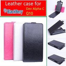 Luxury leather case For Blackberry Q10 Flip cover housing For BlackBerry Q 10