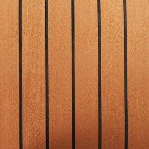Image 5 - 120cm x 240cm x 5mm Selbst Klebe EVA Schaum Faux Teak Blatt Boot Yacht Synthetischen Teak Decking braun und Schwarz Großhandel