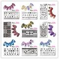 1 Pc Nee Jolie Nail Art Stamping Template Flower Girl Animal Design Rectangle 12*6cm Manicure Nail Art Image Plate NJX 001-010