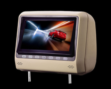 For LSQ STAR 8 inch Swivel screen headrest DVD player/Monitor with DVD/SVCD/JPEG/KODAK/CD-R/IR/FM/SD/USB/A/V input/output