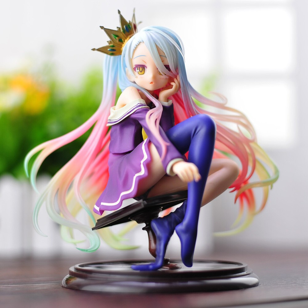 Симпатичная аниме игрушка нет игры нет жизни фигурки Shiro Фигурки ПВХ игрушки так сексуальная девушка гаражный комплект Brinquedos