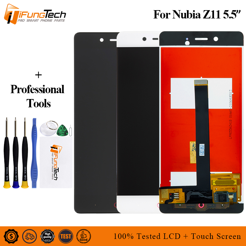 Free Shiping For ZTE Nubia Z11 NX531J LCD Display Touch Screen Digitizer Glass Assembly + Tools