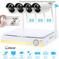 "10.1"" LCD 4CH HD 720P WiFi NVR Kit with 4pcs 1.0MP Waterproof Night Vision Wireless IP Camera CCTV Security Surveillance System"