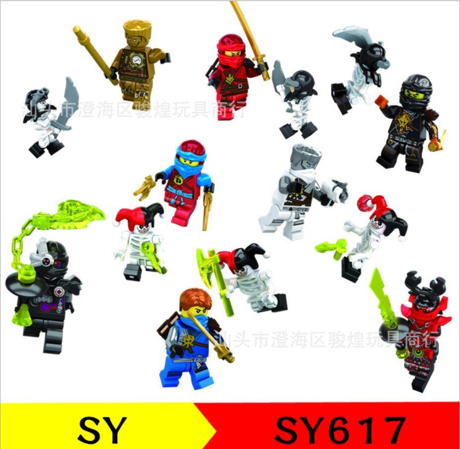 Stacking Blocks 240pcs Super Heroes Ninjagoes Lloyd Ash Master Vermin Sensei Wu The Wei Snake Bronk Zane Blocks Gift Baby Toys Assemble Bricks