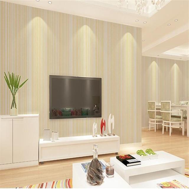 beibehang d papier peint simple plaine bande verticale multicolore couleur chambre salon htel. Black Bedroom Furniture Sets. Home Design Ideas