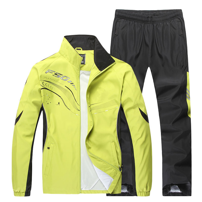 ФОТО Men Running Sets Windproof Breathable Fitness Sport Tracksuit 2017 New Printing Pattern Zip Pocket Male Jogging Sportswear Suits