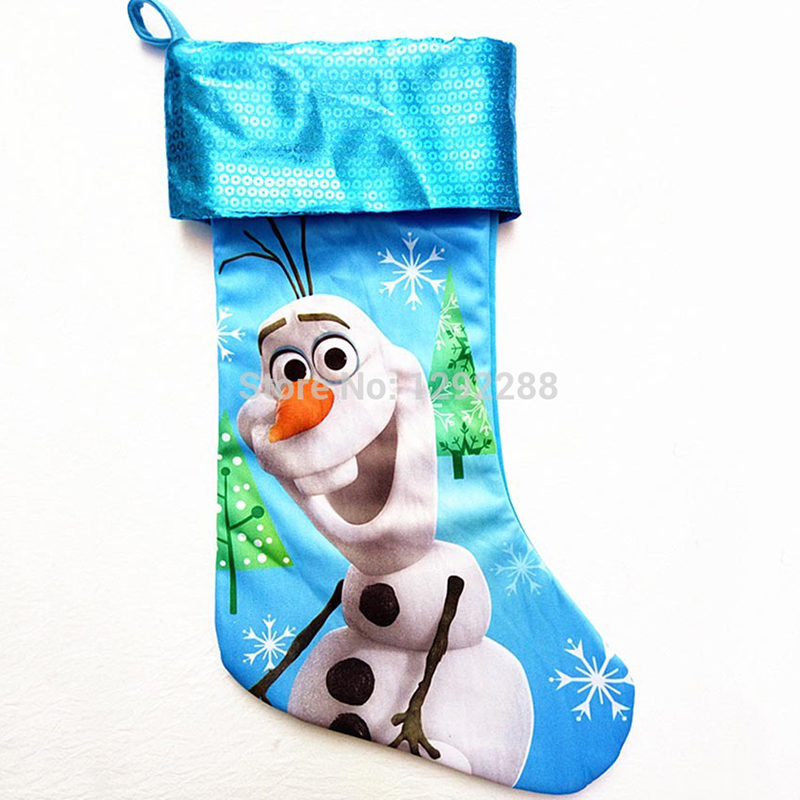 40cm 157 sequins stain finding nemo minnie mouse zootopia elsa anna star wars cartoon christmas stocking children gift bag in stockings gift holders - Finding Nemo Christmas Decorations