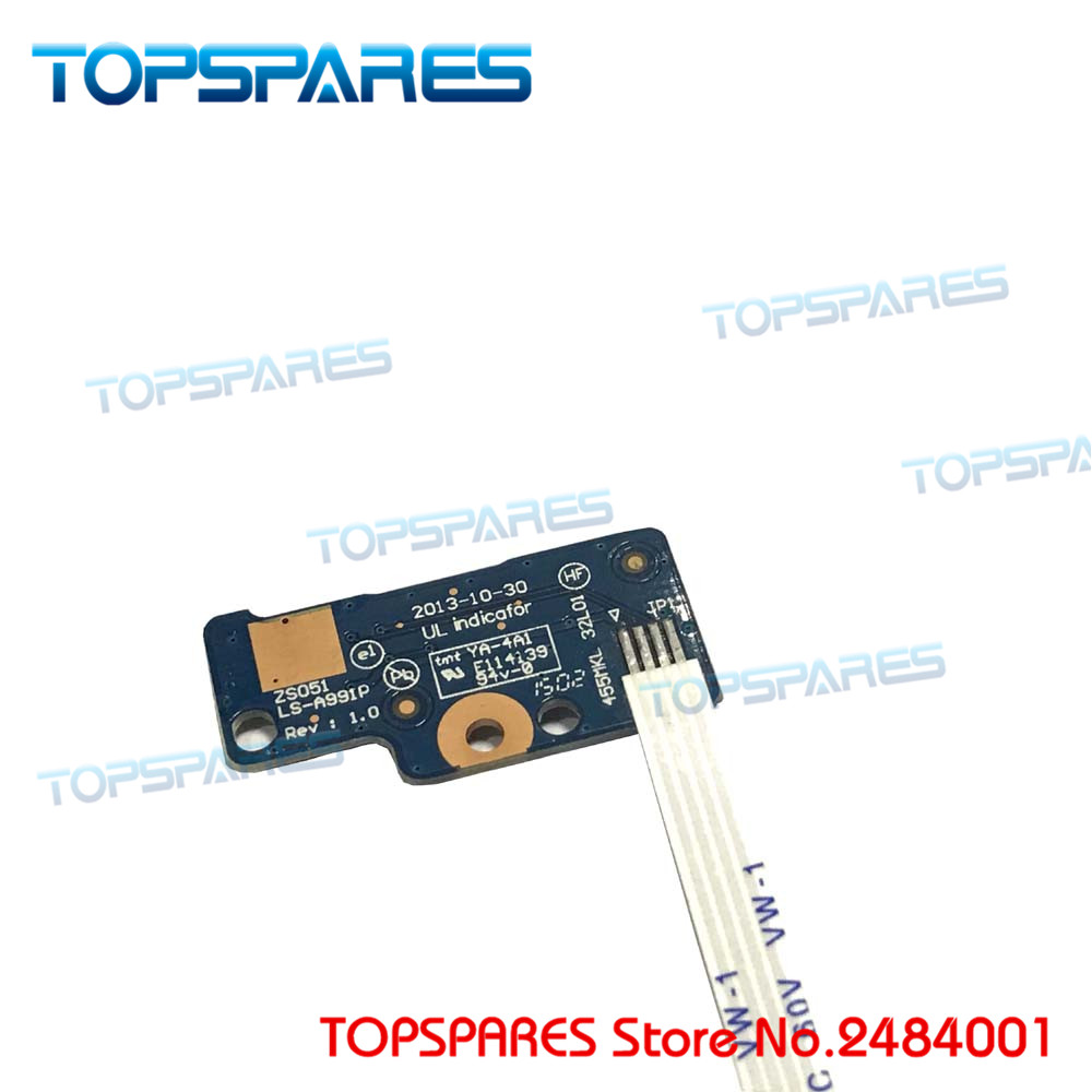Laptop Power Button Board W/ Cable For Hp 15-g On/off 749650-001 Ls-991p Button Series Power Switch Board 100% Original Computer & Office