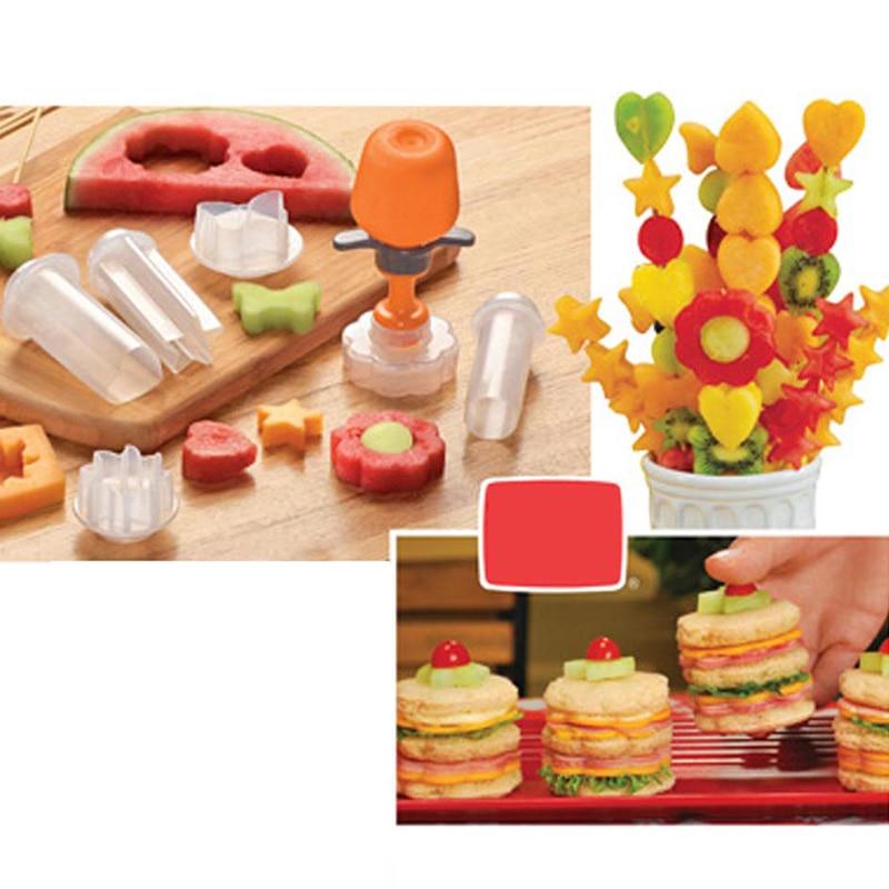 7 шт./компл. форма для фруктов DIY Кухня Многофункциональный Практичный Прочный пластиковый фруктовый пресс-формы для кухни