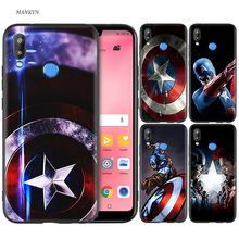 Silicone Case Cover for Huawei P20 P10 P9 P8 Lite Pro 2017 P Smart+ 2019 Nova 3i 3E Phone Cases SuperHero Captain America стоимость