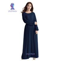 Islamic Clothing For Women New Arrival Plus Size M XXL Brand Muslim Dress Long Sleeve Long