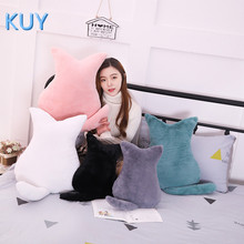 Cute Cat plush Toy cushions pillow Back Shadow Cat Filled animal pillow toys Kids Gift Home Decor For Christmas