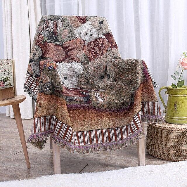 Bunte Baumwolle Und Leinen Decken Baumwolle Dicke Wand Dekoration