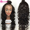 Unprocessed Human Hair Full Lace Wigs 4x4 Silk Top Wavy 7A Lace Front Wigs Natural Hairline Virgin Full Lace Human Hair Wigs