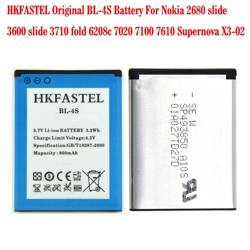 Nouveau BL-4S BL 4S Li-ion Batterie de Téléphone portable Pour Nokia X3-02 2680 slide 3600 slide 3710 fois 6208c 7020 7100 7610 Supernova