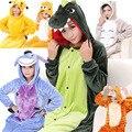 2016 Moda Unicorn Otoño y el Invierno ropa de Dormir de Las Mujeres Pijamas Conjuntos de Pijamas de Dibujos Animados Lindo Pijama de Franela Para Adultos Con Capucha Animal