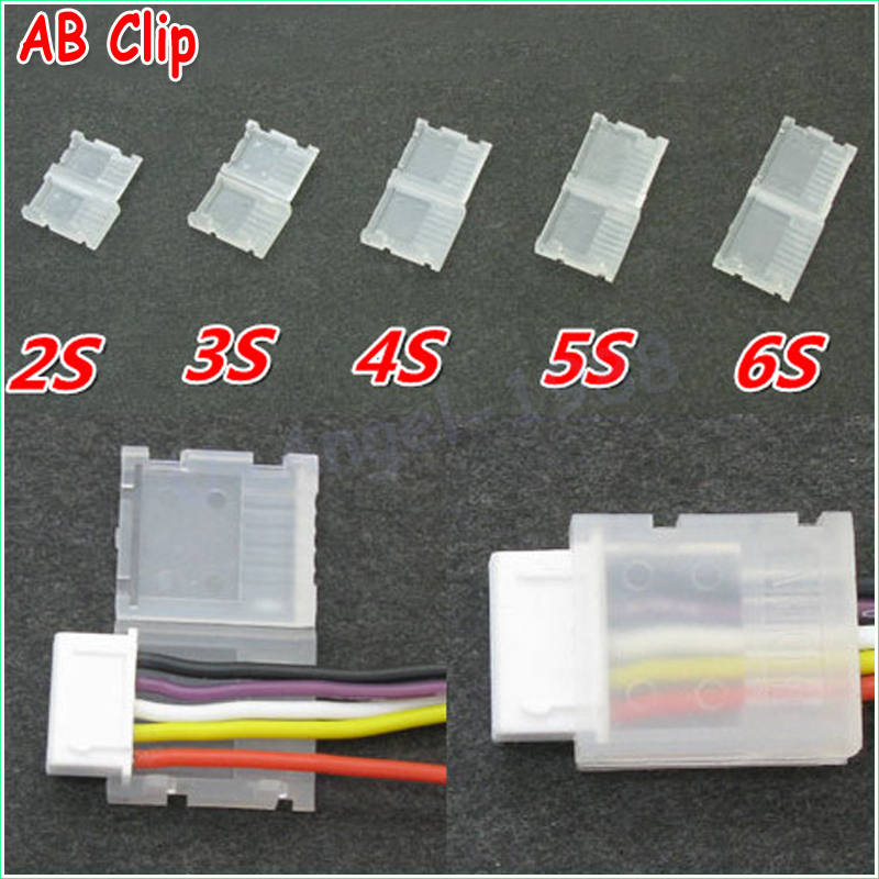 20pcs/lot 2S 3S 4S 5S 6S JST-XH Balanced head protection Balance Plug Savers AB Clip Dropship 5pcs ab clip ab battery balance plug for 2s 3s 4s 5s 6s lipo battery balance plug connector protector