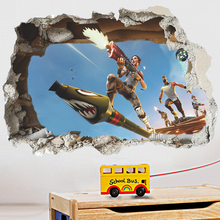 3d battle wall stickers home decor removable kids room fighting game wall decals living room fake window video game design removable wall stickers for kids room