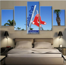 Boston Red Sox 5 Piece Canvas Art Painting For Home Decor On Room Decoration Modern