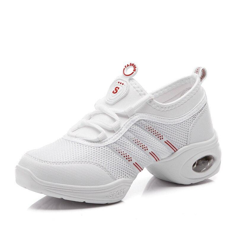 White Mesh Dance Schoenen Woman Sneaker Square Dancing Shoes Lente - Sportschoenen