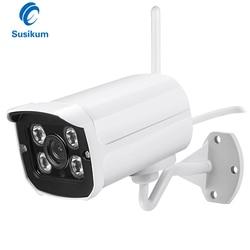 2MP zewnętrzne wifi kamera 3.6mm obiektyw 4 sztuk Array Leds IR 20M podczerwieni nadzoru bezprzewodowa wodoodporna kamera 1080P ONVIF Xmeye APP
