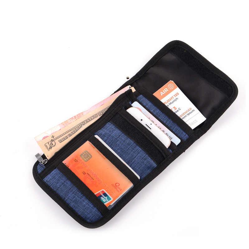 Нейлоновый шейный чехол для паспорта сумка для путешествий кошелек Противоугонный скрытый держатель паспорта Водонепроницаемая безопасность с блокировкой RFID
