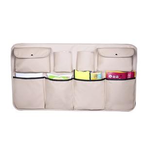 Image 4 - עור רכב מושב אחורי ארגונית אוניברסלי ספרים מים בקבוקי מטריית אחורי מושבים כיסי תא מטען אחסון תיק אוטומטי אבזרים
