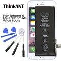 Thinkant para iphone 6 plus batería original 2915 mah capacidad real iphone6p batería con máquinas herramientas kit móvil para iphone 6 p