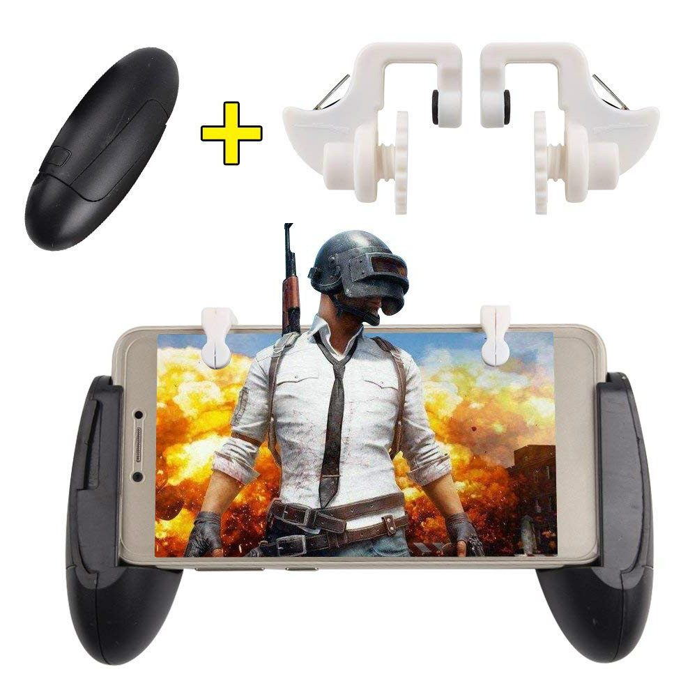 WRUMAVA Mobile Game Survival Gamepad Joystick Button L1R1 Gaming Handle Triggers Grip For Knives / PUBG