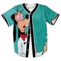 Супер Камнями Гуфи Джерси ТИС мужские рубашки ЗАБАВНЫЙ 3d Уличная бейсбол пота рубашка с кнопки лето стиль Хип-хоп