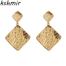 Europe and the United States of hyperbole Personality geometric metal earrings Simple fashion ladies boutique