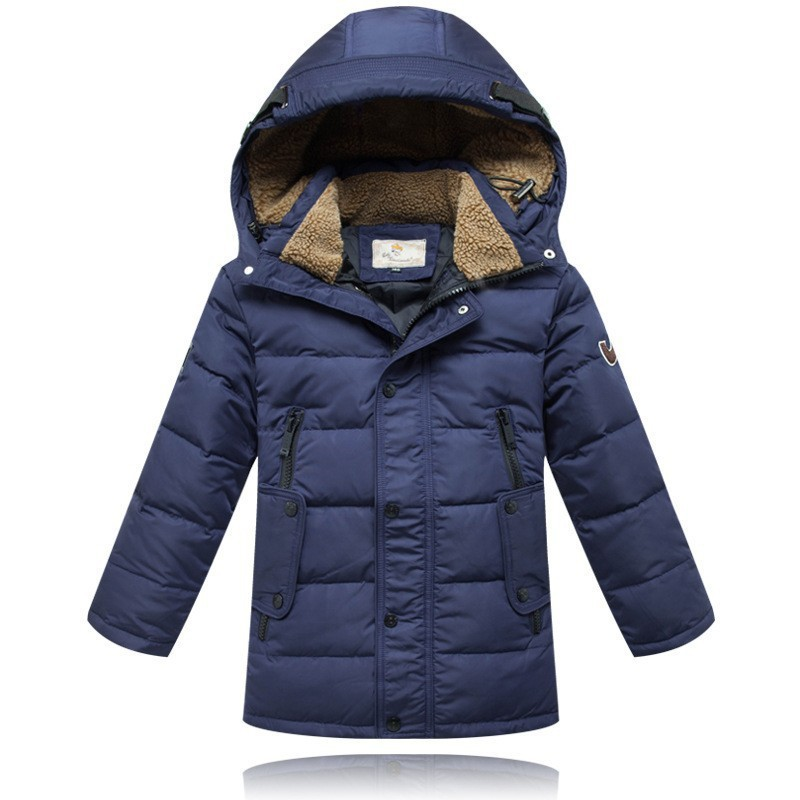 New Autumn&Winter Children Down & Parkas Kids Outerwear Thicken Boys White Duck Down Jacket And Long Down Jacket Age 10-16T 2015 new hot winter thicken warm woman down jacket coat parkas outerwear hooded splice mid long plus size 3xxxl luxury cold