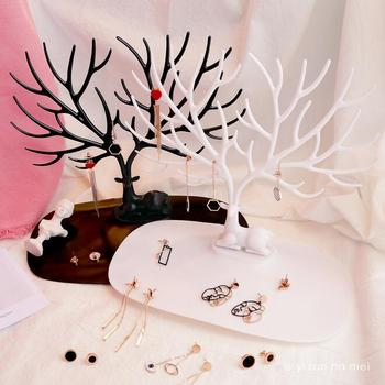 Hot selling Free Shipping Jewelry Organizer 3 Color Necklace Earring Deer Stand Show Rack Display