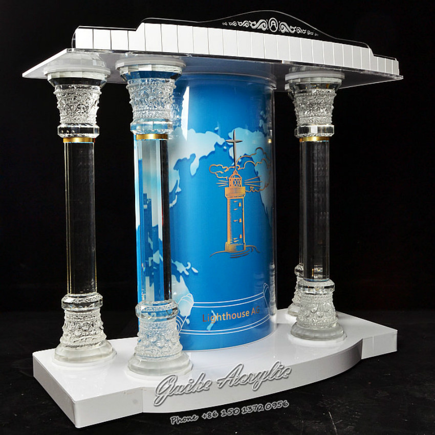 Pulpit Designs for Church Organic Glass Church Pulpit Foyer Furniture Church Furniture Crystal Column 90 corner clamp shopify