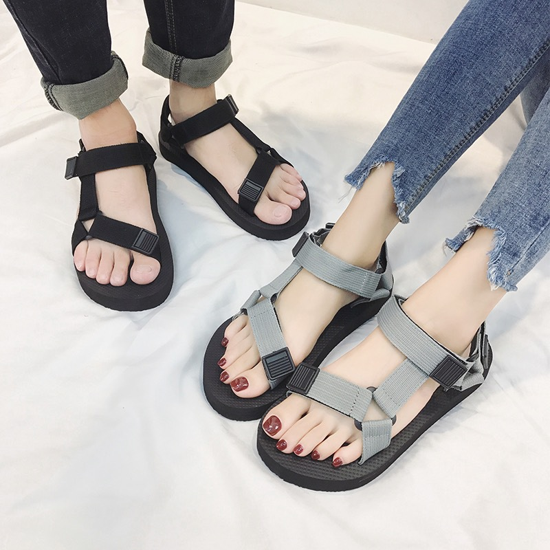 Sandals Men Shoes Gladiator Men's Sandals Roman Men Shoes Summer Flip Flops Gray Black Flat Sandals Large Size 2019(China)