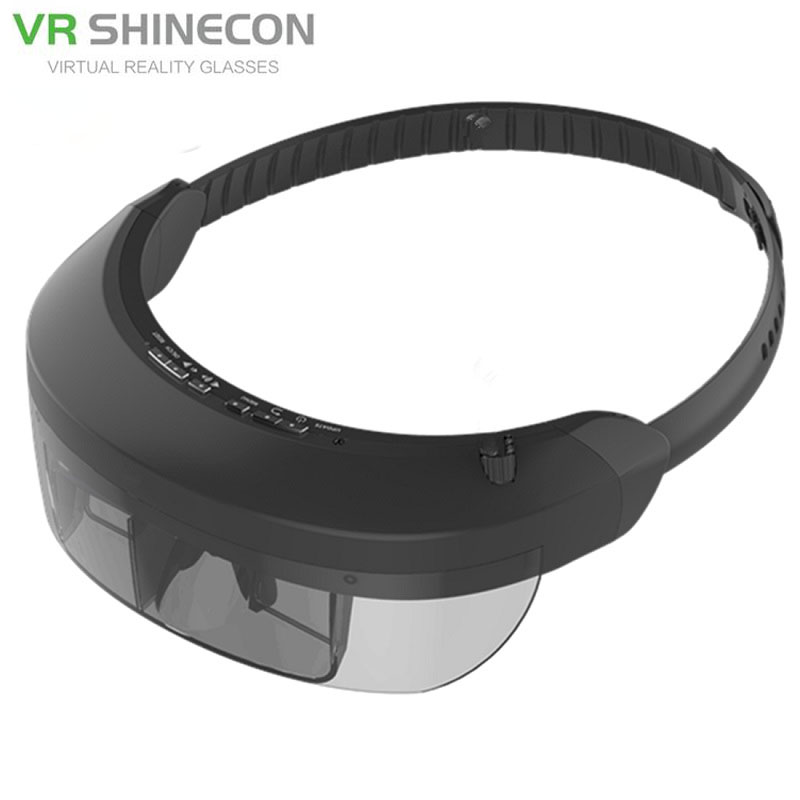 Smart Android WiFi Glasses 80 Widescreen Portable Video 3D Glasses Private Cinema With Camera Bluetooth Media