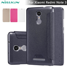 Leather Case for Xiaomi Redmi Note 3 Pro Nillkin Sparkle Smart Sleep Leather Flip Cover Case for Xiaomi Redmi Note 3 Pro Prime
