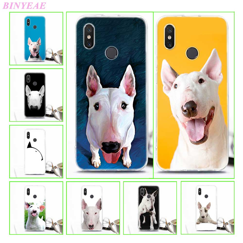 TPU Soft Case For Xiaomi 8 8SE Bullterrier bull terrier Transparent Printing Drawing Silicone Phone Cases Cover