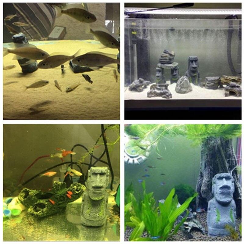 Vintage roman door easter island resin crafts fish tank for Aquarium decoration diy