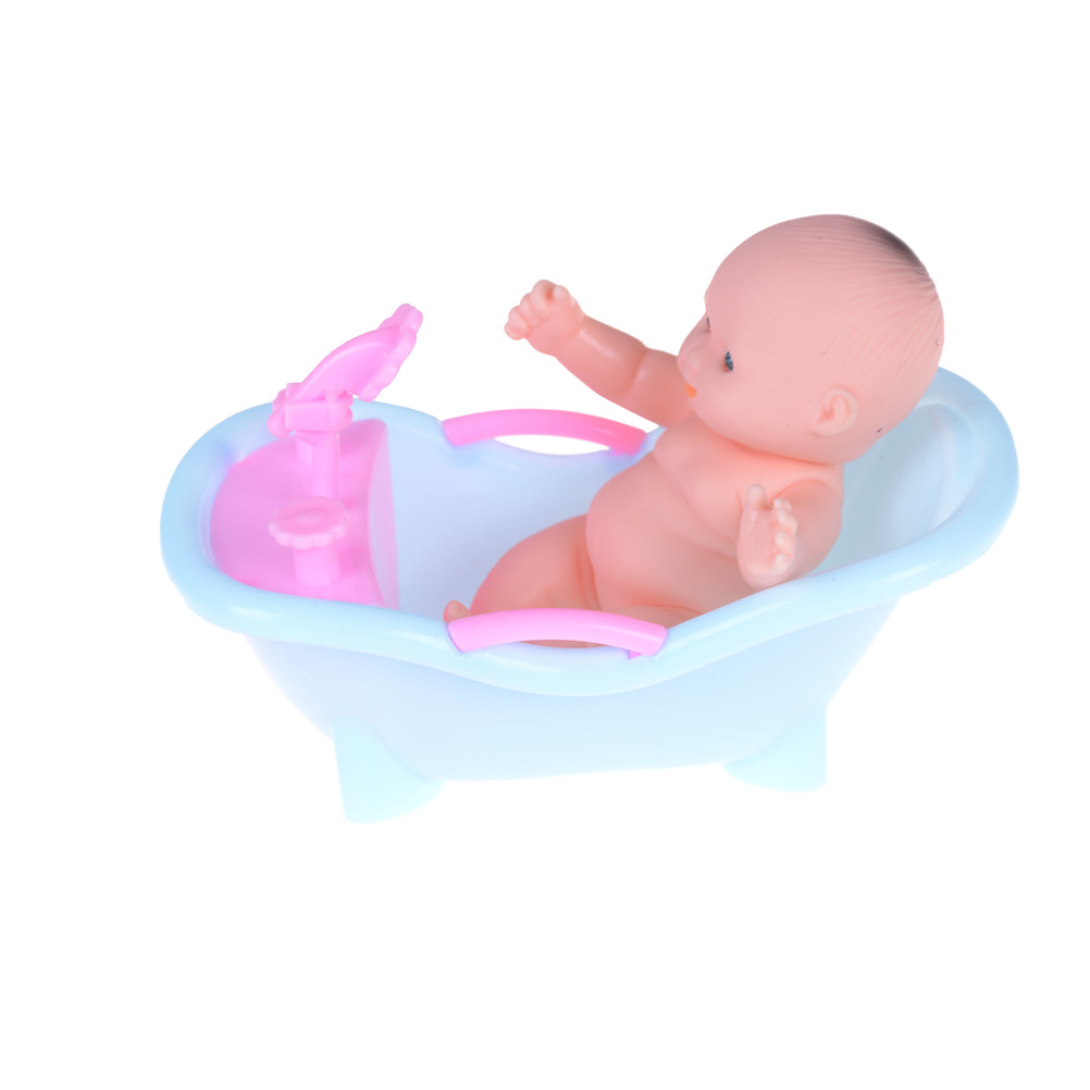 Doll Accessories Kwaii Baby Bathroom Bathtub With Bath Set For Barbie Kelly Toy Play House Toys Tub In Dolls From Hobbies On
