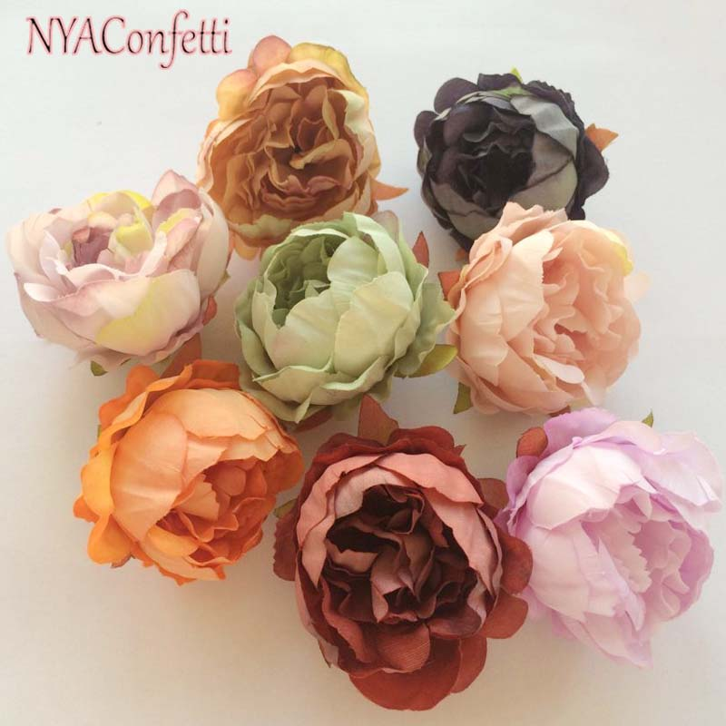 5cm Head Artificial Silk Roses Small Peonies Heads Diy Peony