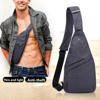 2018 New Anti-Theft Men's Messenger Bags Multi-pocket Sling Shoulder Bags Casual Chest Pack Travel Crossbody Bags Male