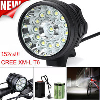 Rechargeable Bike Light Waterproof Bicycle Light 3 Modes 38000Lm 15x T6 LED Bike Light Front MTB Cycling Headlight Lamp 30AT28