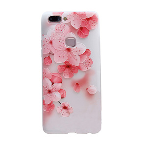 Image 4 - 3D relief flower silicone phone case New fashion phone cover  for iphone XS MAX XR 5 6 7 8 plus  Rose floral OPPO soft TPU Cover