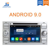 JDASTON Android 9.0 Car Multimedia Player For Ford FOCUS MONDEO S MAX C MAX Kuga GPS Navigation Radio Stereo DVD CD WIFI 4G+32G
