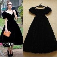 Vintage evening dress long prom dresses women vestidos longo robe femme wedding clothes retro elegant cocktail black 2015