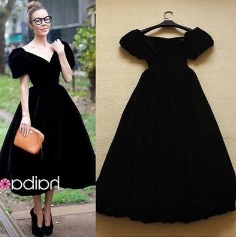 S-XXXL Vintage black dress long dresses women vestidos longo robe femme  wedding clothes festa retro elegant dress evening party c246dfbc9b