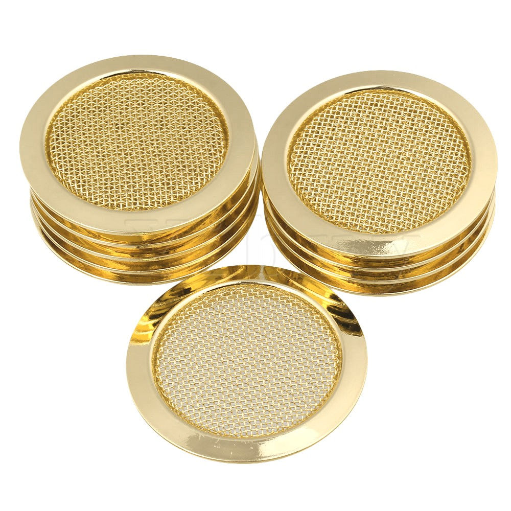 ФОТО Yibuy10 x 6cm Alloy Resonator Guitar Soundhole Cover Music Speaker Grille Gold